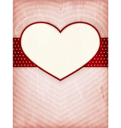 Heart frame on distressed background vector image vector image