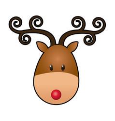 Reindeer face manger animal cartoon image vector