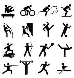 sports and athletics icons vector image
