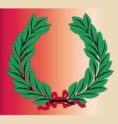 Wreath and ribbon vector
