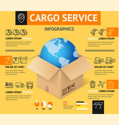 cargo transportation delivery service business vector image vector image