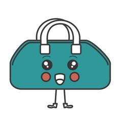 gym bag kawaii character vector image