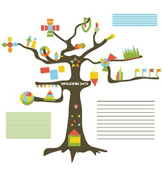 Infographic data on the tree vector image