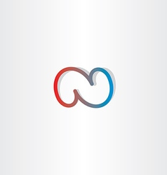 n letter n logo icon vector image