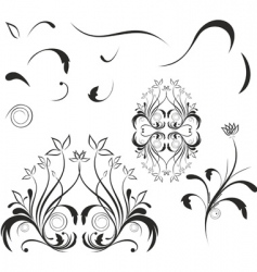 design elements and ornaments vector image
