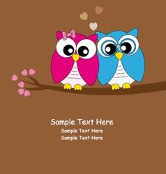 owls love vector image