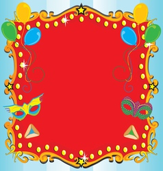 purim carnival party vector image vector image