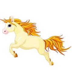 Running unicorn vector image vector image