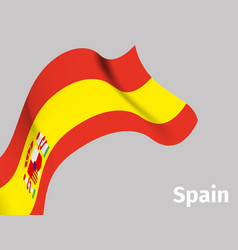 background with spain wavy flag vector image vector image