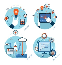 Easy management of technological projects vector image