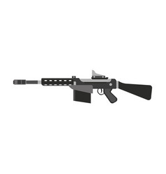 Gun submachine weapon rifle military automatic vector