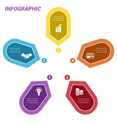 infographic points arranged in circle five vector image vector image
