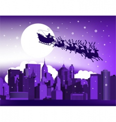 Santa in the city vector image vector image