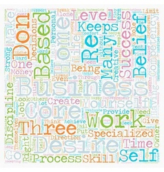 The Core Competencies of a Successful Home Based vector image vector image