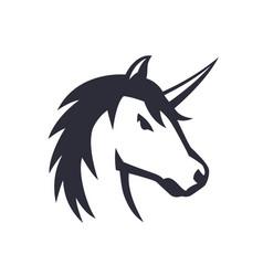 unicorn logo element over white vector image vector image