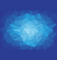 abstract blue light triangle 3d low polygon vector image