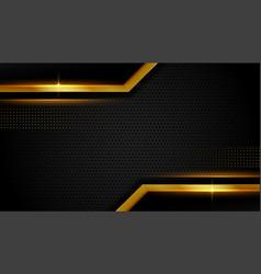 Abstract golden lines luxury dark background vector