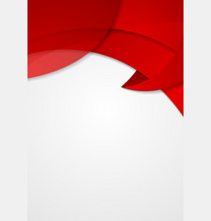 Abstract red corporate wavy flyer design vector