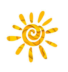 abstract summer sun logo design vector image