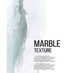 alcohol ink mint grey liquid splash marble vector image