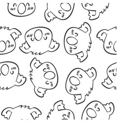 Animal head art of doodles vector