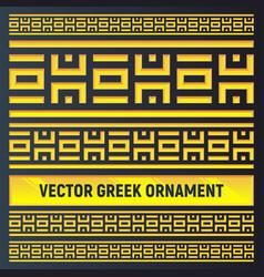 Antique greek golden borders vector