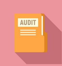 Audit company folder icon flat style vector
