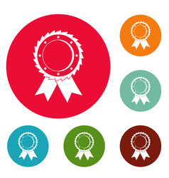 award icons circle set vector image