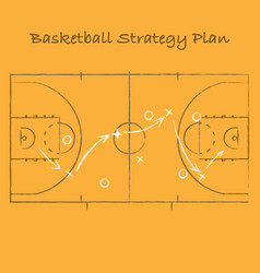 Basketball strategy background vector