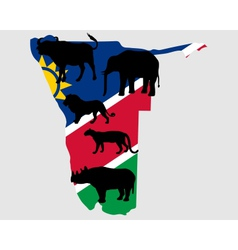 Big Five Namibia vector