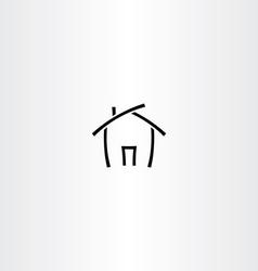 Black icon house home symbol vector