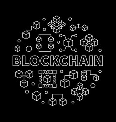 blockchain cryptocurrency round concept vector image