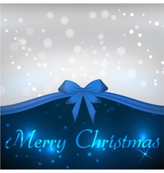blue christmas bow vector image