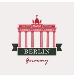 Brandenburg Gate in Berlin vector image