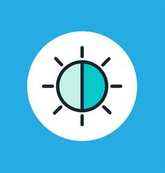 brightness icon sign symbol vector image