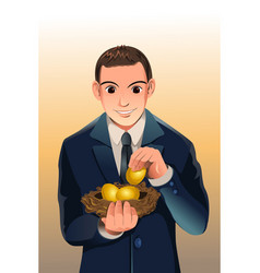 business financial savings vector image