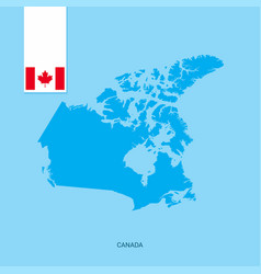 Canada country map with flag over blue background vector