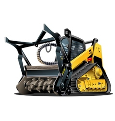 Cartoon Land Clearing Mulcher vector image