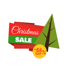 christmas sale -55 off poster vector image