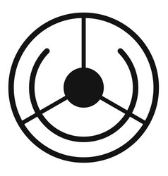 circle aim target icon simple style vector image