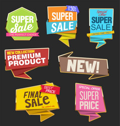 collection colorful sale stickers and tags 2 vector image