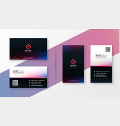 Colorful halftone style modern business card vector