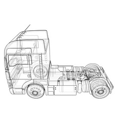 Commercial delivery tracing 3d vector
