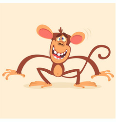 cute cartoon monkey character vector image