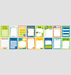 cute planner notepad to do list paper page vector image