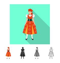 Design woman and portuguese symbol set vector