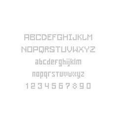 Dotty font vector
