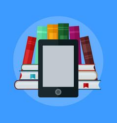 E-book concept university computer classroom vector