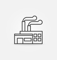 Factory building line icon vector