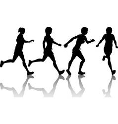 Female joggers vector